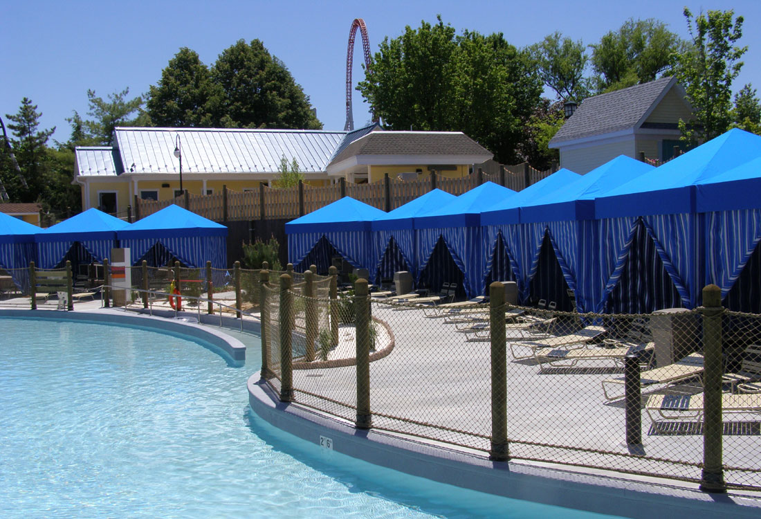 Poolside Cabanas at the Hershey Resort